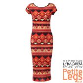 Lyra Warm Aztec Print Bodycon Midi Dress